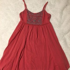 Red and navy American Eagle swing dress